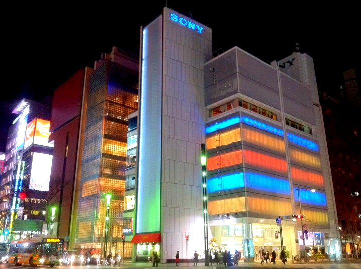 Sony Store, Ginza.