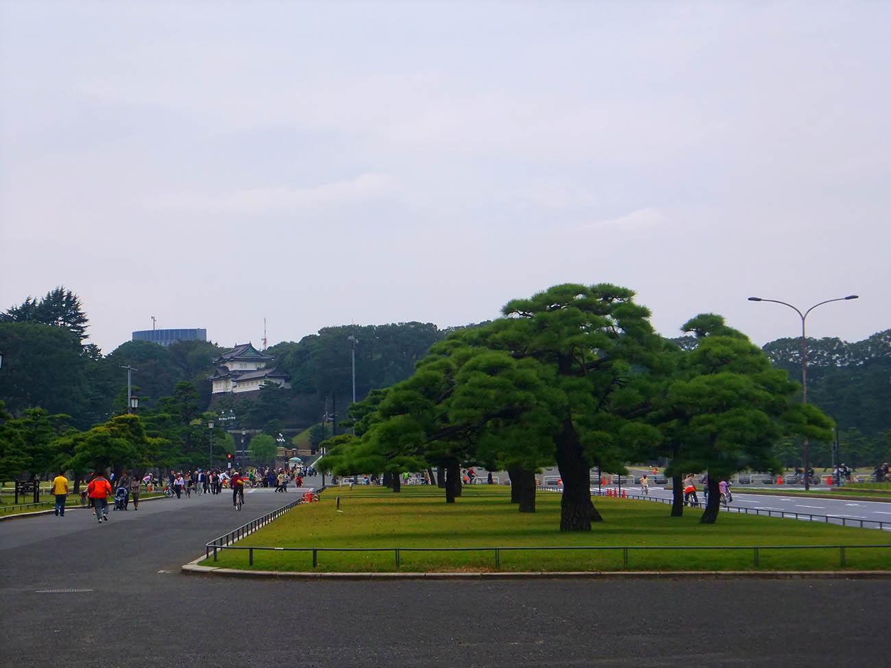 Территория императорского дворца в Токио