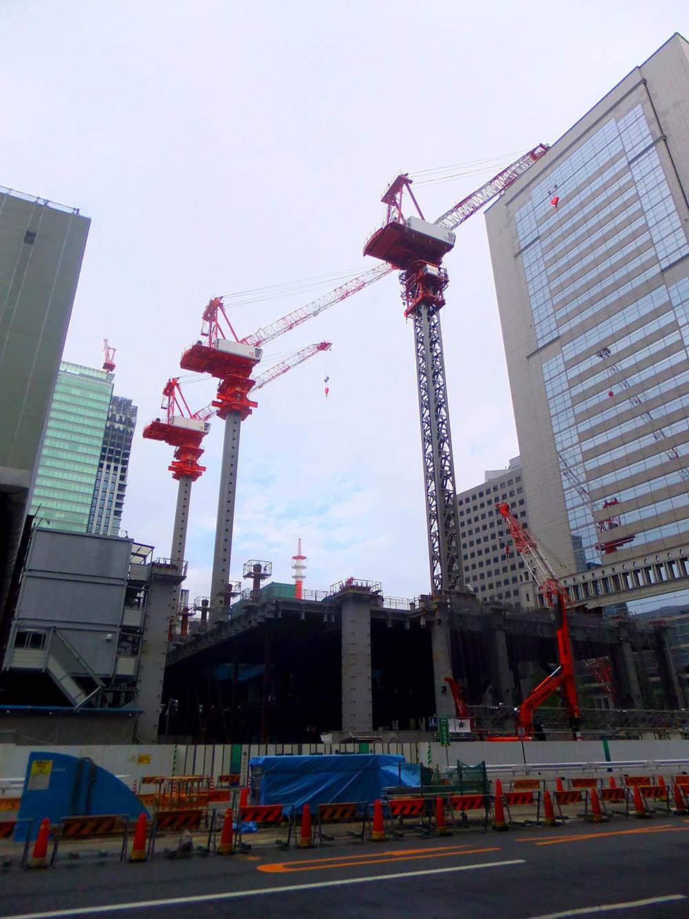 Строительство небоскреба в Токио