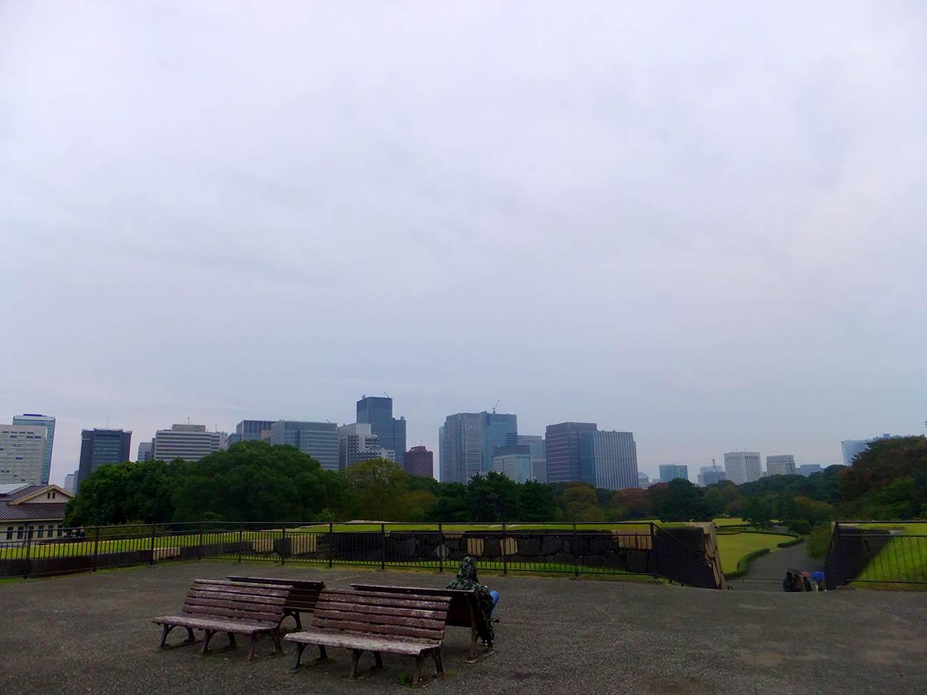 Вид с холма императорской резиденции
